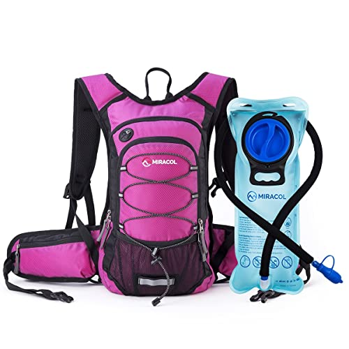 MIRACOL Hydration Backpack with 2L Water Bladder, Thermal Insulation Pack Keeps Liquid Cool up to