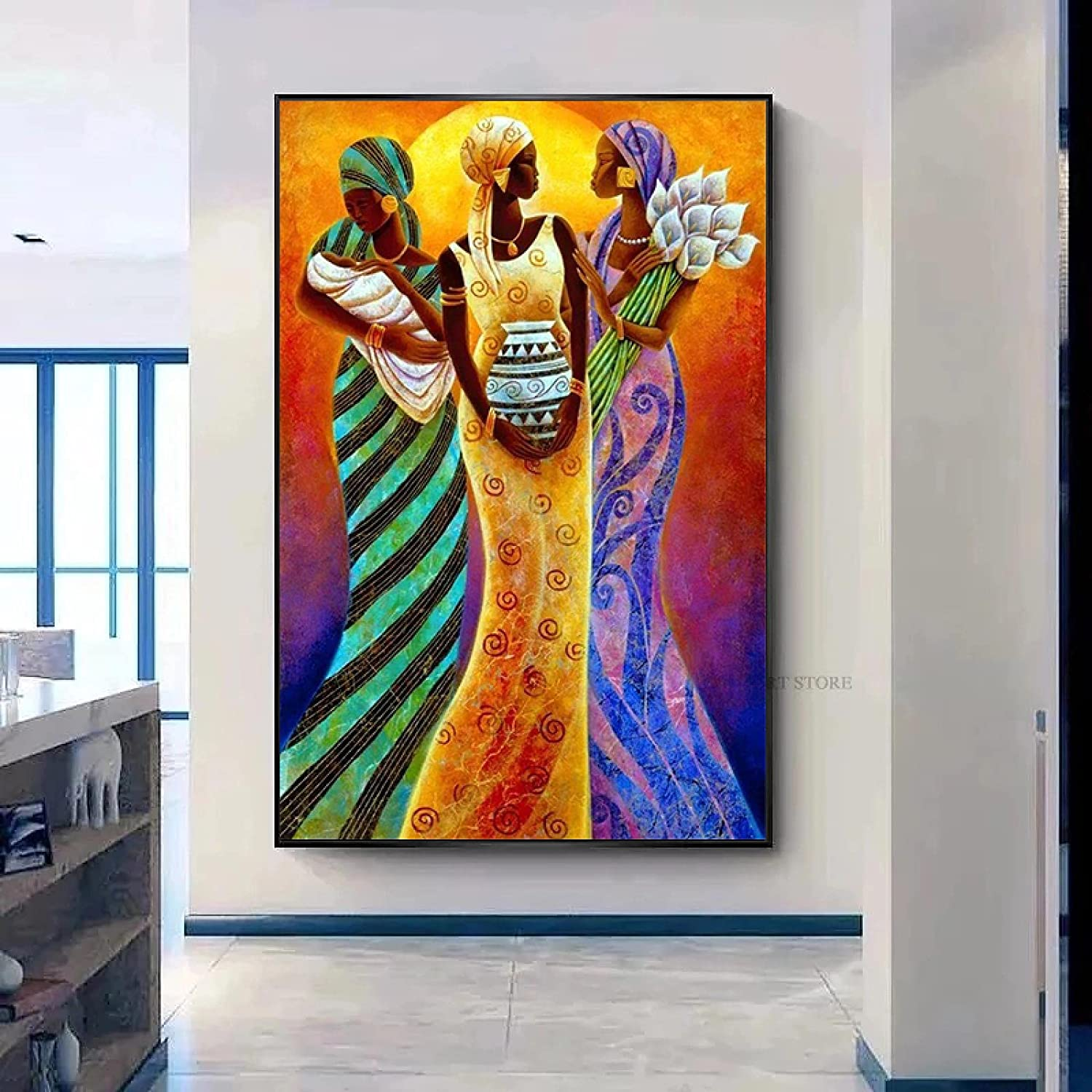 Canvas Weekly update Paintings Scandinavian African Posters Portrait And Woman 100% quality warranty