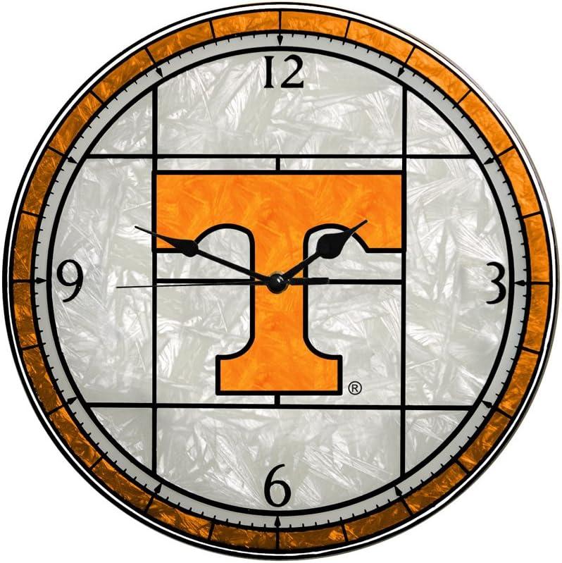 Memory Company Tennessee [Alternative dealer] Volunteers Glass Clock Art 12in service