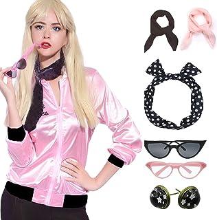 Retro 1950s Pink Polka Dot Style Headband Ladies Jacket Costume Accessories