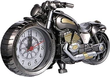 BESPORTBLE Moto Réveil Morden Moto Style Bureau Temps Horloge Vintage Nouveauté Chevet Horloge Modèle Figurine Ornement pour