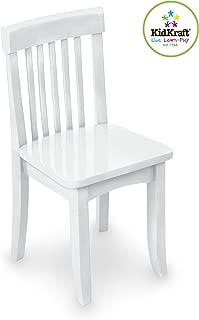 KidKraft Avalon Wooden Single Classic Back Desk Chair For Children - White