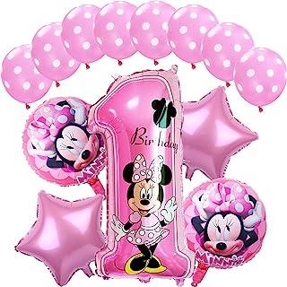 Decoraciones de cumpleaños de Minnie Mouse ZSWQ-Minnie Party Globos Bolas de Nido de Abeja de Minnie Globo de Rosado,Banne...