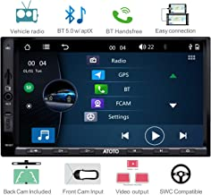 ATOTO W3 W3272 Double Din Car Stereo,Car FM/AM Radio with RBDS,Bluetooth 5.0 w/aptx Codec,Android Phone Link/mirroring,2 Din Capacitive 7in Touchscreen Support USB/SD,SWC - Back Camera Included