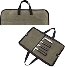 Buwico Chef Knife Bag Knife Roller Storage Bag with 4 Slots Durable Knife Roller Case Knife Carrying Bag