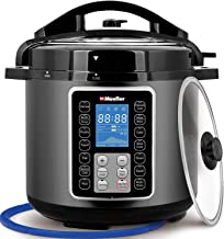 Mueller UltraPot 6Q Electric Hot Pot 10 in 1 Pressure Cooker with German ThermaV Tech, Cook 2 Dishes at Once, BONUS Tempered Glass Lid incl, Saute, Steamer, Slow, Rice, Yogurt, Maker, Sterilizer