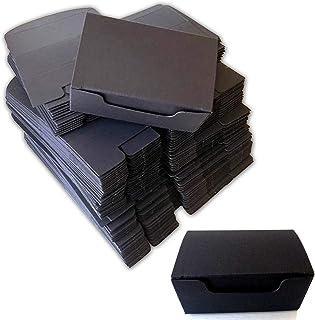 60Pcs Black Empty Gift Boxes (9.2 X 4 X 5.6cm), Rectangle Shape Small Kraft Paper Gifts/Storage/Jewelry/Soap Box, Disposab...