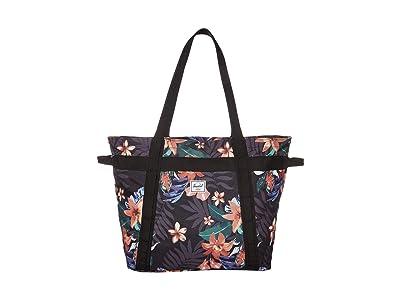 Herschel Supply Co. Alexander Zip (Summer Floral Black) Tote Handbags