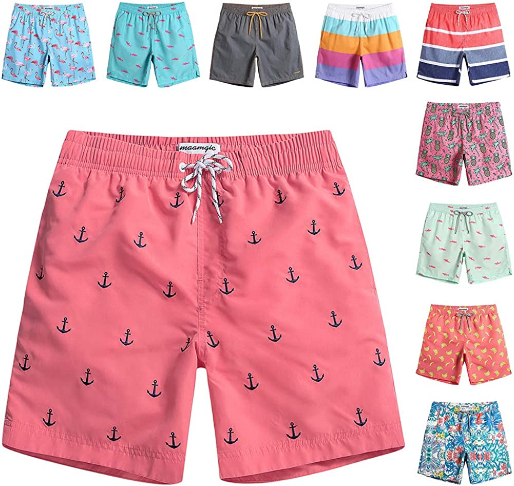 maamgic Mens Swim Trunks Financial sales sale Quick Mesh Dry Shorts with Lining New color