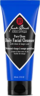 JACK BLACK – Pure Clean Daily Facial Cleanser – 2-in-1 Facial Cleanser and Toner, Removes Dirt and Oil, PureScience Formula, Certified Organic Ingredients, Aloe and Sage Leaf, 3, 6, 16 oz.