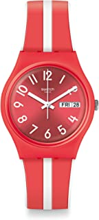 Swatch orologio SANGUINELLO Originals Gent 34mm Energy Boost rosso GR709