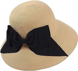 Everkeen Bowknot Cappello da Sole per Donna Cappello Estivo Ampio da Spiaggia Cappello da Spiaggia Pieghevole da Donna
