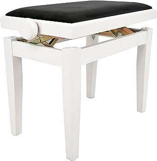Navarra NV43 Banquette pour Piano blanc brillant