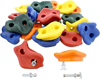 Get Out! Rock Climbing Holds - 20 Piece DIY Rock Climbing Wall for Kids, Outdoor and Indoor Rock Climbing Grip