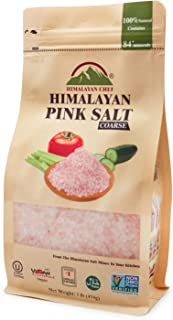 Himalayan Chef Pink salt, 1 lbs Pouch Coarse Grains