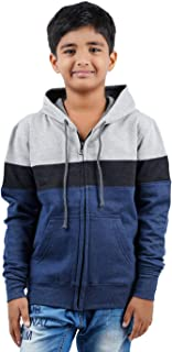 checkersbay Multi Coloured Hooded Solid Boys Sweatshirt