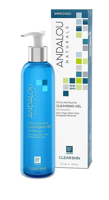 弾力性のあるのど海藻オーガニック ボタニカル 洗顔料 クレンジング ナチュラル フルーツ幹細胞 「 CK クレンジングジェル 」 ANDALOU naturals アンダルー ナチュラルズ