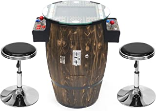 Creative Arcades Full-Size Commercial Grade Wine Barrel Style Pub Arcade Machine   60 Classic Games   2 Sanwa Joysticks   ...