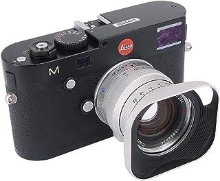 Haoge LH-ZV07P バヨネット メタル スクエア レンズ フード シェード 対応 カール ツァイス Carl Zeiss Biogon T 2/35 35mm f2 ZM, C Biogon T 2.8/35 35mm f2.8 ZM, Planar T 2/50 50mm f2 ZM; フォクトレンダーVoigtlander NOKTON Classic 35mm f1.4 VM, 35mm f1.4 VM II, 40mm f1.4 VM 換え LH-6, くり抜き付きデザイン