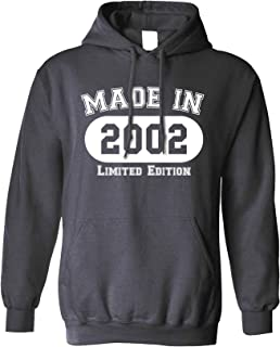 18th Birthday Hoodie Made in 2002 Limited Edition Hooded