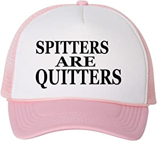 Funny Trucker Hat Spitters are Quitters Fishing Baseball Cap Retro Vintage Joke