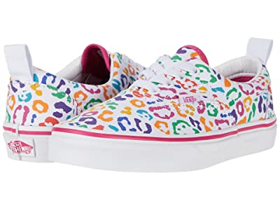 Vans Kids Era Elastic Lace (Little Kid) ((Rainbow Leopard) Fuchsia Purple/True White) Girls Shoes