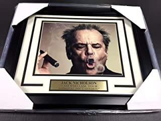 JACK NICHOLSON FRAMED 8X10 PHOTO I AM WHO I AM YOUR APPROVAL ISNT NEEDED SMOKE