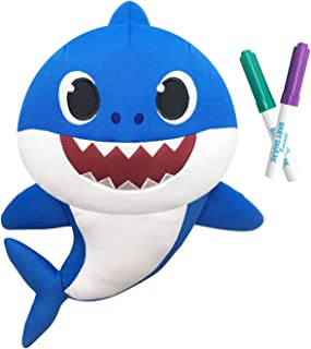 Pinkfong Baby Shark - Doodle Me Doll - Daddy Shark - Preschool Plush - by WowWee
