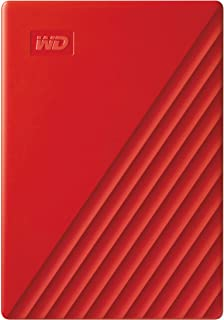 WD 2TB My Passport Portable External Hard Drive, Red - with Automatic Backup, 256Bit AES Hardware Encryption & Software Protection