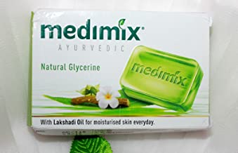 Medimix Herbal Handmade Ayurvedic Soap with Natural Glycerine With Lakshadi Oil for Dry Skin Pack of 10 (10 x 125 g)