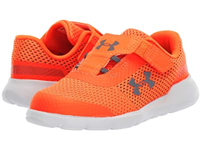 Under Armour Kids UA Inf Surge Running (Toddler) (Orange Glitch/White/Pitch Gray) Boys Shoes