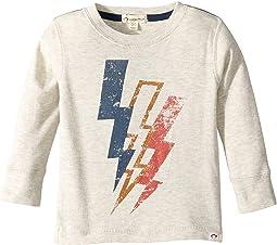 Soft Lightning Blot Graphic Long Sleeve Tee (Infant/Toddler/Little Kids/Big Kids)