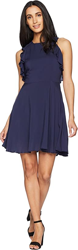 Samantha Ruffle Fit and Flare Dress