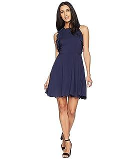 Samantha Ruffle Fit and Flare Dress