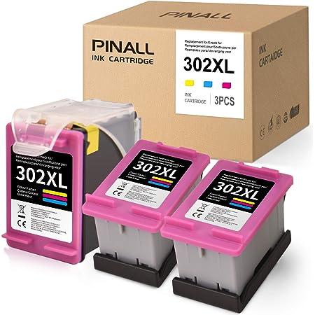 Pinall 3 Farbe Druckerpatronen Kompatibel Für Hp 302xl 302 Xl Hp Deskjet 1110 1111 1112 1113 Deskjet 2130 2131 2132 2133 2134 3630 3632 Officejet 3830 4650 4652 4655 Envy 4520 4521 4522 4523 Drucker Bürobedarf Schreibwaren