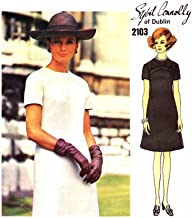 1960s Sybil Connolly A-line Jewel Neck Dress Vogue Couturier Design 2103 Vintage Sewing Pattern Check Listing for Size