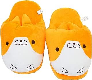 EASTVAPS Small Shiba Inu Dog Cartoon Anime Slippers Winter Warm Cotton Shoes