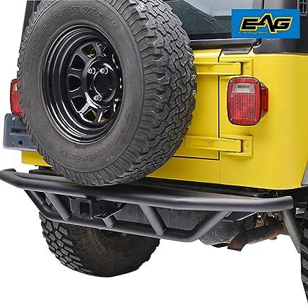 EAG Black Rear Bumper Steel Tubular Off Road with 2