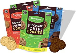 Fancypants Baking Co. Nut Free Cookies - Buttery Delicious & Crunchy Variety (2 Chocolate Chips, 1 Double Dutch Chocolate ...