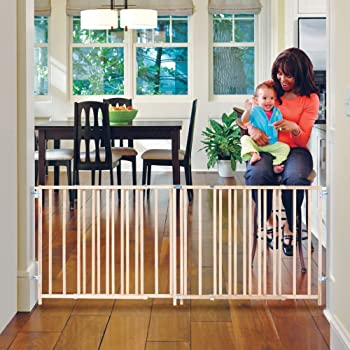 -Made in USA Decks GMI Keepsafe Gate W Fits Openings 40-108 Collapses to 25.5-Smallest in The Industry! Open Concepts Fits one car Garage! and 32 H Top of Stairs Certified
