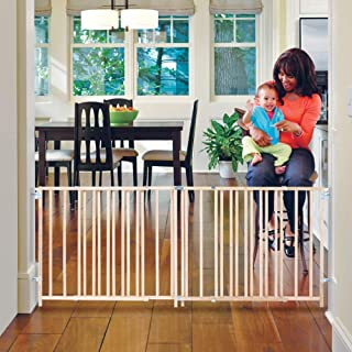 """North States 103"""" Wide Extra-Wide Swing Baby Gate: Perfect for Oversized Spaces. No Threshold and one-Hand Operation. Hard..."""