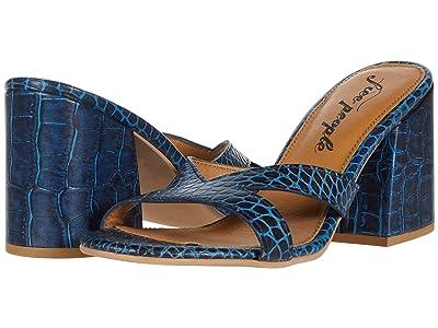 Free People Charlie-V Heel (Blue) Women
