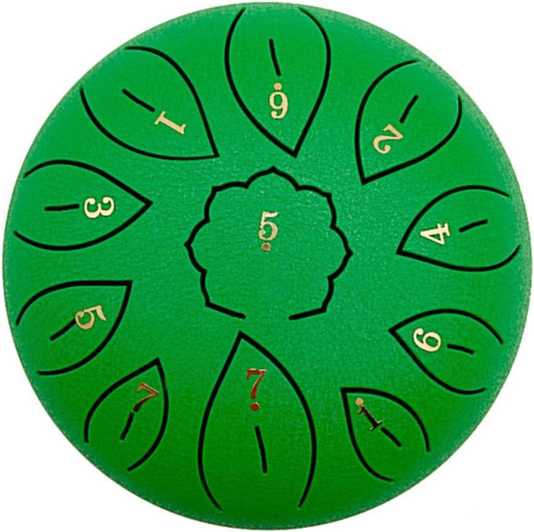 Tambour Chantant Tambours en Acier 11 Notes 6 Pouces Instrument de Percussion C-Key Handpan Drum Kit avec Supports de Baguettes pour l/éducation Musicale Concert Mind Healing Yoga Sac de Tambour
