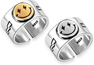 smile jewelry ring sterling silver ball  smile ball ring/_3 s/_m-R.07