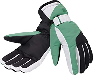 women's ski gloves white