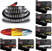 LivTee 60 Inch LED Truck Tailgate Light Bar Strip Super Bright Tail Brake Backup Reverse Turn Signal Running Lights for Pickup Trailer SUV RV VAN Car Towing Vehicle, Red/White/Amber