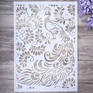 DIY Decorative Peacock Stencil Template for Painting on Walls Furniture Crafts (Peacock)