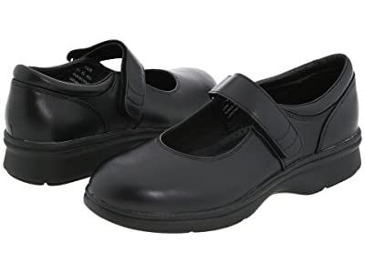 Propet Mary Jane Walker Medicare/HCPCS Code = A5500 Diabetic Shoe (Black Leather) Women