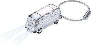 TROIKA LIGHT BULLI T1 1962   KR17 40/CH   Schlüsselanhänger mit LED Licht(weiß)   Bulli (Motiv: Volkswagen T1, 1962)   glänzend   silber   Official licensed by VOLKSWAGEN   das ORIGINAL von TROIKA