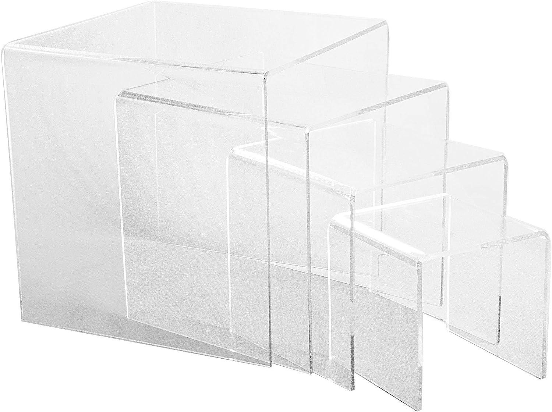 CHOICE ACRYLIC DISPLAYS Set of 4 Large 1 Max 81% OFF Thi Risers Acrylic 4